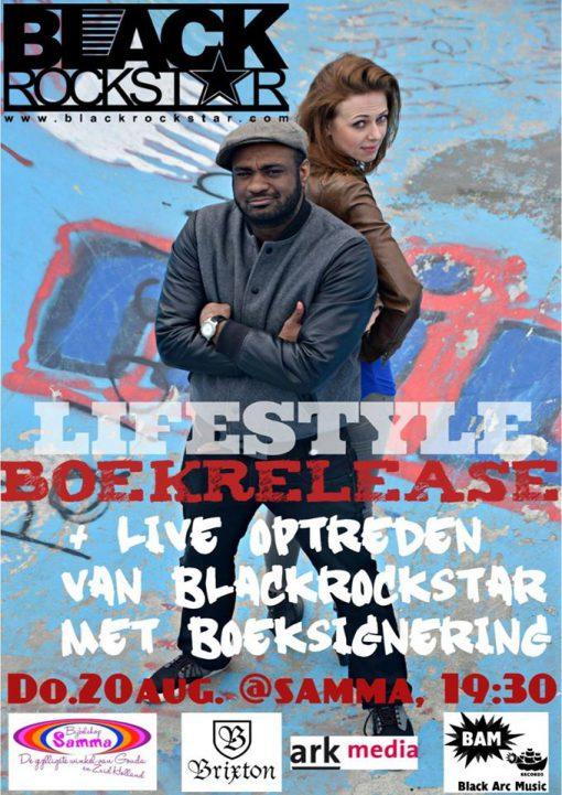 20-8-2015 Blackrockstar Rivelino met Lifestyle boekpresentatie