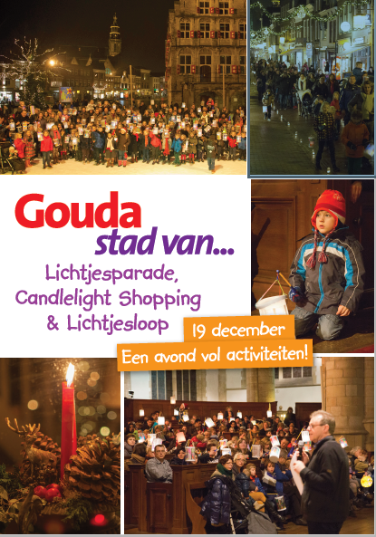 zaterdag 19 december Lichtdragersoptocht en Candlelight shoppen.